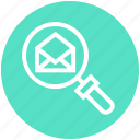 find, glass, magnifier, magnifying glass, open envelope, search, zoom