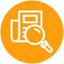 find, glass, magnifier, magnifying glass, search, sheet, zoom