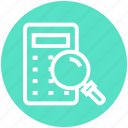 calculator, find, glass, magnifier, magnifying glass, search, zoom