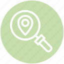 find, glass, location pin, magnifier, magnifying glass, search, zoom