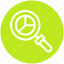 find, glass, graph, magnifier, magnifying glass, search, zoom