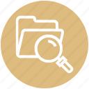 find, folder, glass, magnifier, magnifying glass, search, zoom