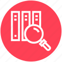 files, find, glass, magnifier, magnifying glass, search, zoom