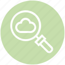 cloud, find, glass, magnifier, magnifying glass, search, zoom