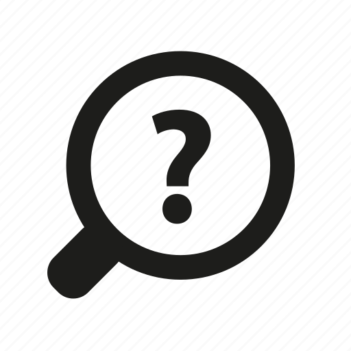 magnifier, problem, question, search icon