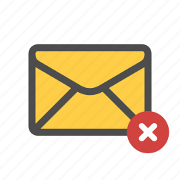 delete, email, mail icon