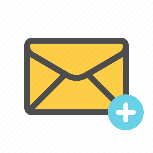 add, email, mail icon