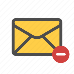 email, mail, remove icon