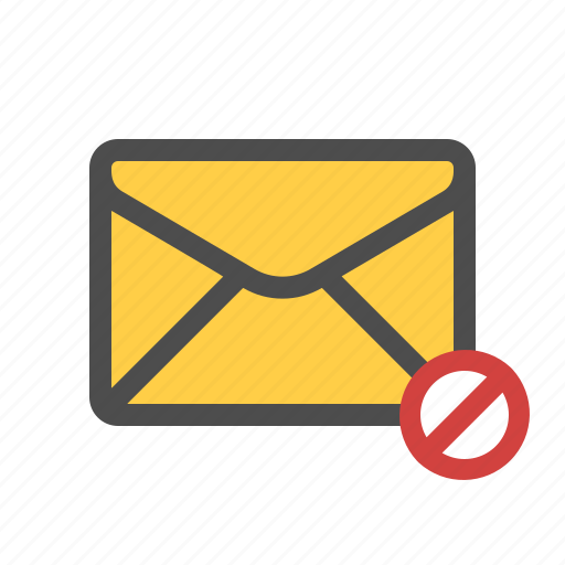 blocked, email, mail icon