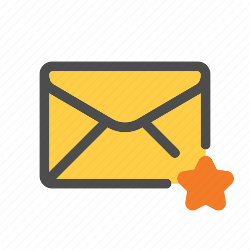 email, favorite, mail, starred icon