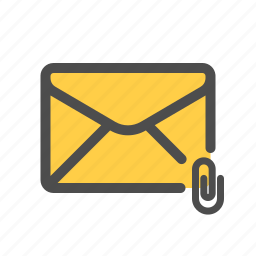 attachment, email, mail icon