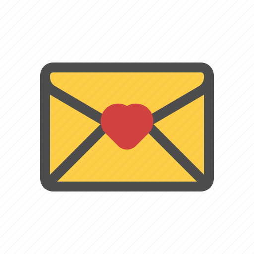 heart, letter, love, mail icon