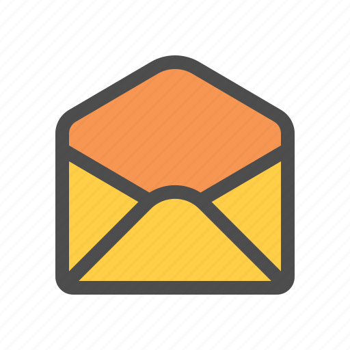 empty, envelope, mail icon