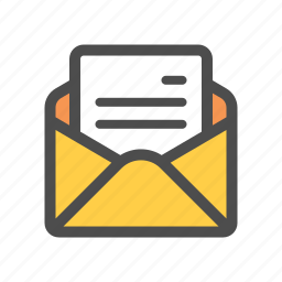 email, letter, open icon