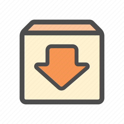 archieve, download icon