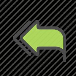 all, arrow, reply icon