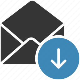 download, email, envelope, letter, mail, message icon icon