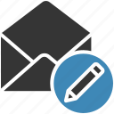 edit, email, envelope, letter, mail, message icon icon