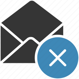 cancel, email, envelope, letter, mail, message icon icon