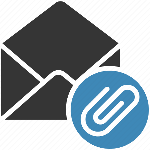 attach, email, envelope, letter, mail, message icon icon