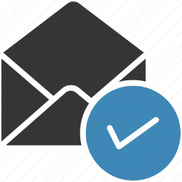 check, email, envelope, letter, mail, message icon icon