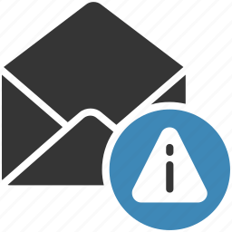 email, envelope, error, letter, mail, message icon icon