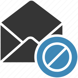 block, email, envelope, letter, mail, message icon icon