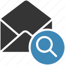 email, envelope, letter, mail, message icon, search icon