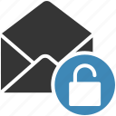 email, envelope, letter, mail, message icon, open