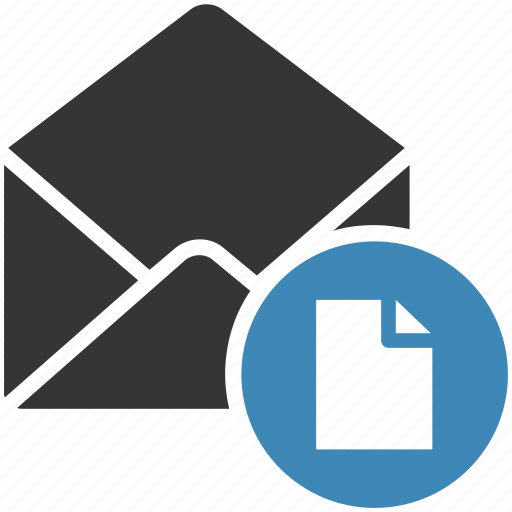 email, envelope, file, letter, mail, message icon icon