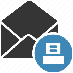 email, envelope, letter, mail, message icon, print icon