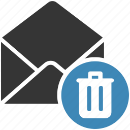 delete, email, envelope, letter, mail, message icon icon