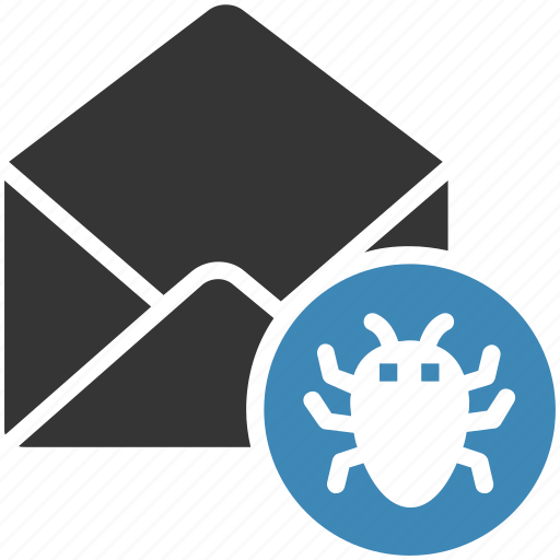bug, email, envelope, letter, mail, message icon icon