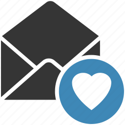email, envelope, favorite, letter, mail, message icon icon