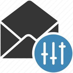 control, email, envelope, letter, mail, message icon icon