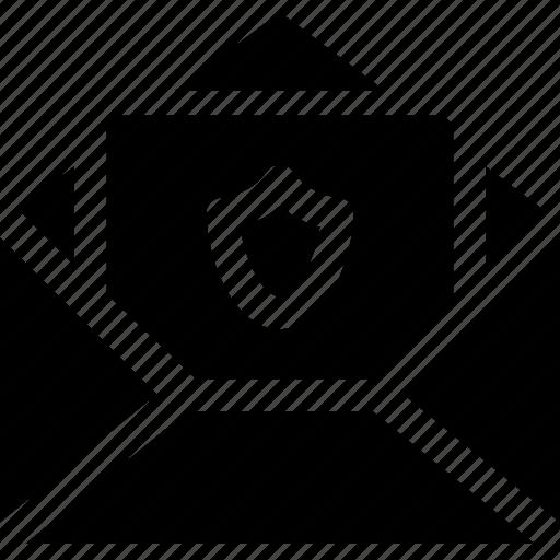 envelope, letter, message, open, registered, secure icon