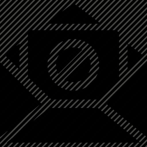 envelope, letter, message, open, rejected, unavailable icon