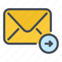 chat, email, envelope, mail, message, outbox, send icon