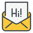 chat, email, hi, letter, mail, message, text
