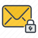 email, lock, mail, message, password, protection, security