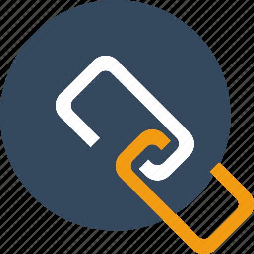 attach, chain, data, file, link, share icon