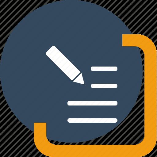 box, document, draft, edit, mail, pen, write icon