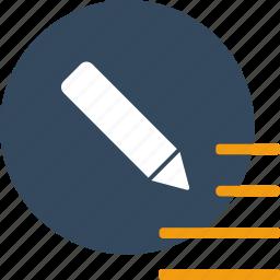 change, document, edit, pen, pencil, text, write icon
