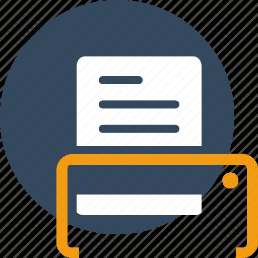 paper, print, printer, publish, report, seo icon