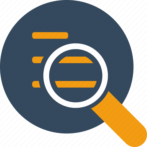 documents, look, magnifier, search, seo, text, zoom icon