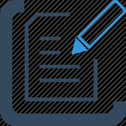 box, document, draft, draw, edit, pencil, write icon