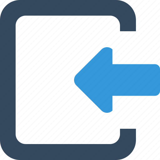 direction, inbox, insert, left, mail, move, recive icon