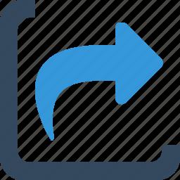 arrow, change, direction, inbox, insert, move, recive icon