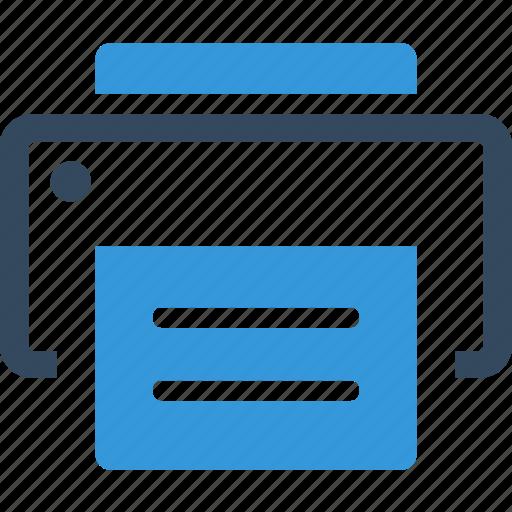 device, document, paper, print, printer, publish, report icon