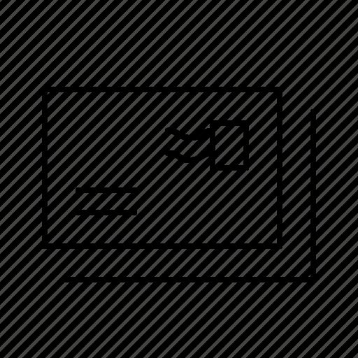 delivery, envelope, mail, postal, postcards, service icon